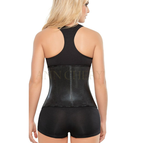 2045 Metallic 3Hooks Latex Cincher Workout Waist Trainer