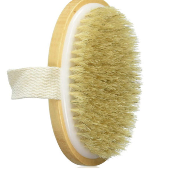 Natural Bristle Body Brush For Dry of Wet Brushing