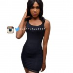 Ladies Black Compression Camisole With Lace Trims
