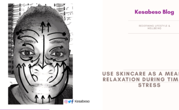 You can use skincare as a means of relaxation during times of stress
